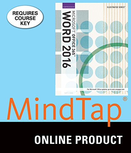 MindTap Computing for Duffy/Cram's Illustrated Microsoft Office 365 & Word 2016: Comprehensive, 1st Edition