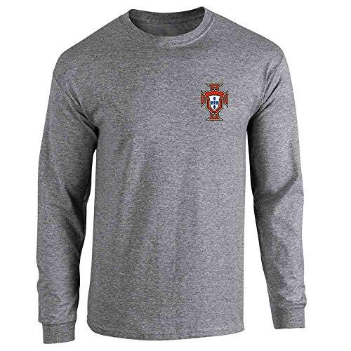 National Team Long Sleeve Tee - Portugal Soccer Retro National Team Football Graphite Heather 3XL Long Sleeve T-Shirt