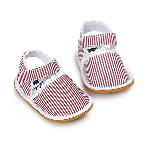 Pueri Blanco Sandalia del bebé para los primeros pasos Zapatillas agradables Zapatillas de las niñas de la primavera y el verano rosado