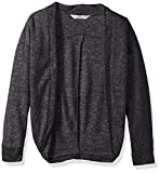 Harmony and Balance Girls' Big Long Sleeve Sweater Knit Top, Charcoal Heather, 7/8