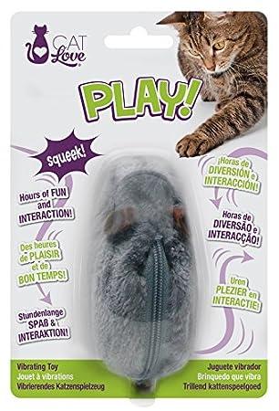 Cat Love vibración ratón Juguete para Gatos: Amazon.es: Productos para mascotas