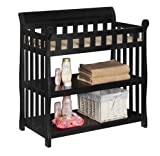 Black Baby Crib with Changing Table Delta Children Eclipse Changing Table, Black