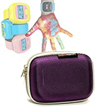 Navitech Purple Water Resistant, Child Resistant, Hard Case Cover For The LeapFrog LeapBand