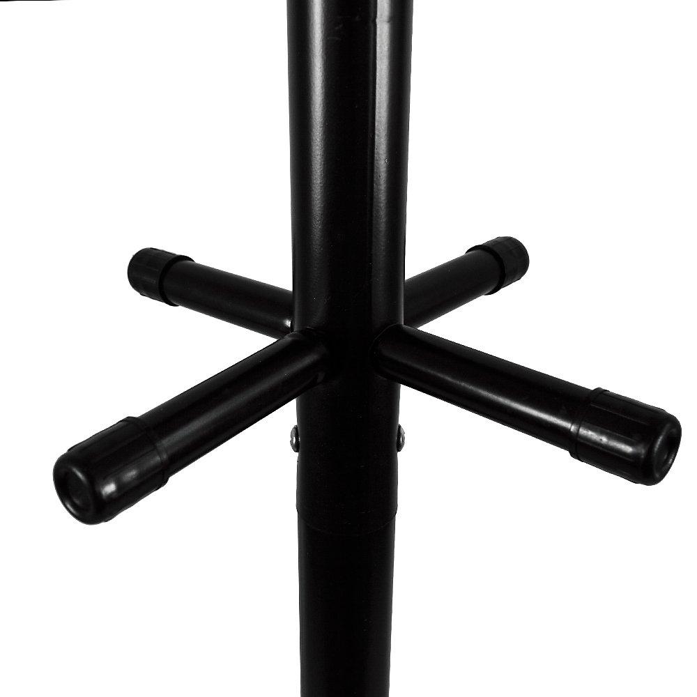 Home Vida Coat Stand Hat Umbrella Garment Rack Metal Tree Holder In Black