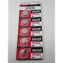 Maxell 5x CR1632 BR1632 CR 1632 3V Lithium Button Cell Battery Batteries - Official Genuine Maxell
