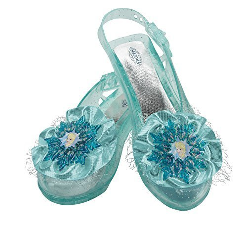 Disguise Disneys Frozen Elsa Shoes Girls Costume One Size Child