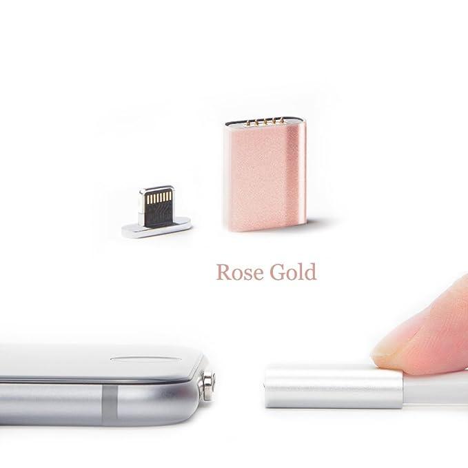 netdot Cargador magnético conversor y adaptador para iPhone 6S, iPhone 6S Plus, iPhone 6, iPhone 6 Plus, iPhone 5, iPhone 5 C, iPhone 5 S