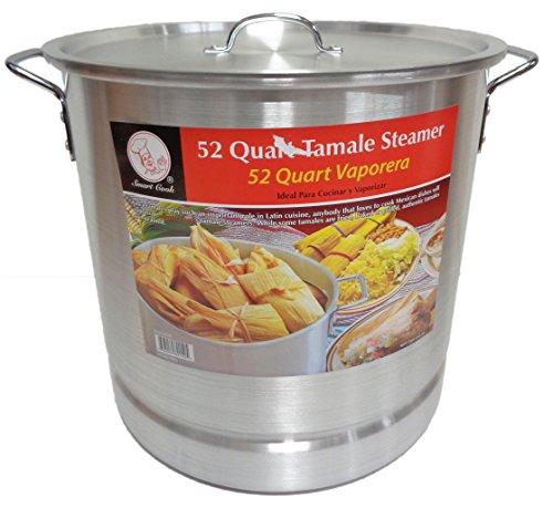 52 Qt Tamale Steamer Vaporera Stock Pot Premium Aluminum Tamalera 13 Gallons