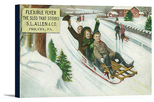 (Philadelphia, Pennsylvania - S L Allen and Co Flexible Flyer Sled (18x10 3/4 Gallery Wrapped Stretched Canvas))