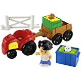 Fisher-Price Little People Farm Tractor and Trailer Playset