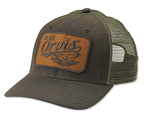 24f82e8db Amazon.com : Orvis Upland Wax Trucker Cap, Olive : Sports & Outdoors