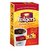 Folgers Classic Roast Instant Coffee Crystals 7 Packets