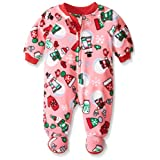 The Children's Place Little Boys and Toddler Snowman Blanket Sleeper, Pink Icing, 3T