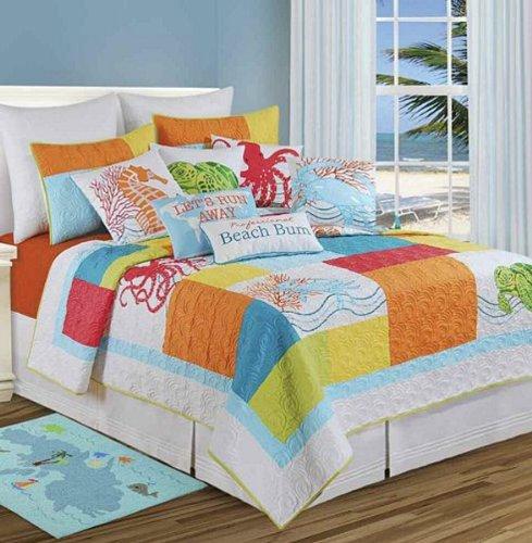 C&F Home 89956.6886 Tropic Escape Quilt, Twin, Blue