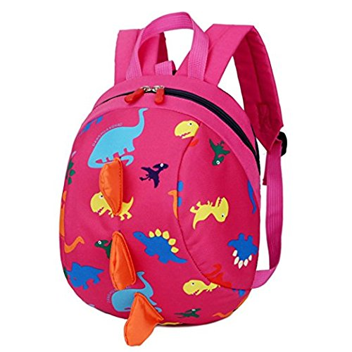 Toddler Safety Harness Backpack Kids Walker Daypack Cartoon Dinosaur Rucksack Baby Prevent Lost Walking Shoulder Bag Preschool School Bag for Boys Girls Zoo Park Kindergarten Nursery Travel Bag by JIAHG (Image #2)