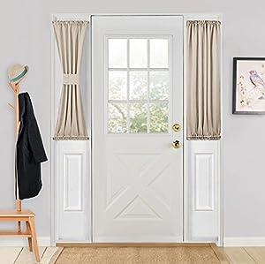 Pony Dance One Piece Blackout French Door Curtain Panel With Bonus Tiebacks 25 X 40