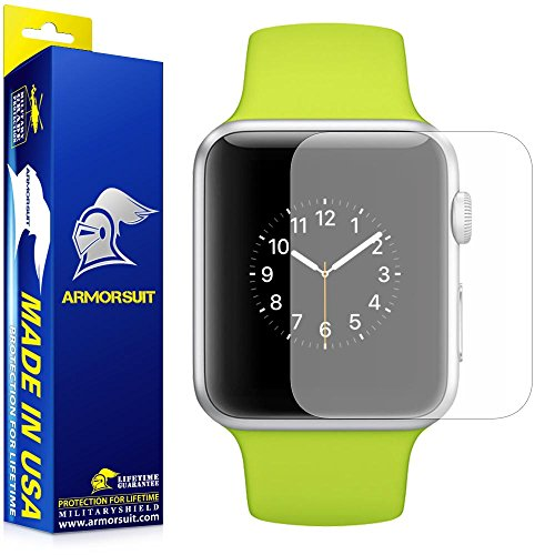 ArmorSuit MilitaryShield For Apple Watch 38mm Matte Screen Protector (Series 1) Full Coverage [2 Pack] Anti-Glare - Lifetime Replacements