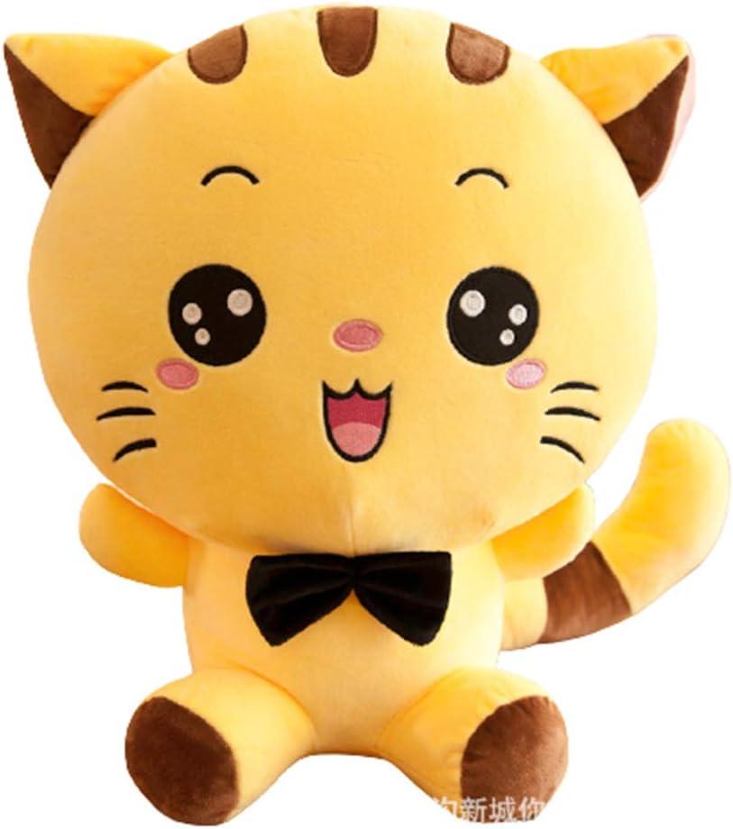 Cat Plush Toy - Ice Bubble Milk Tea Asian Comfort Food Soft Plush Toy Stuffed Animal - Kawaii Cute Japanese Anime Style Gift (Yellow style 1,13.77 inch)