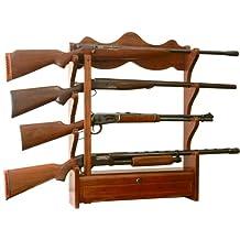 American Furniture Classics 840 4 Gun Wall Rack, Medium Brown