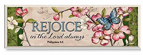 Heartfelt Collection Simple Harmony Plaque, Rejoice Always- Philippians 4:4 Harmony Plaque