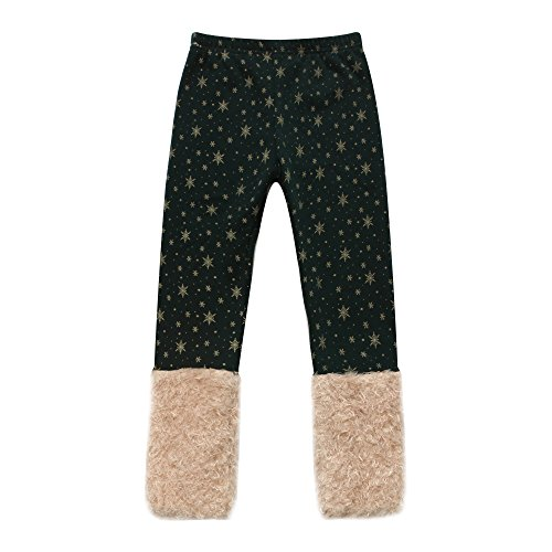 richie-house-little-girls-green-pants-with-gold-snowflakes-and-fluffy-cuffs-rh0886-a-2-3-fba