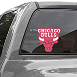 WinCraft NBA Chicago Bulls WCR40951014 Perforated Vinyl Decal, 17'' x 17''