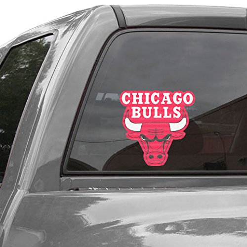 WinCraft NBA Chicago Bulls WCR40951014 Perforated Vinyl Decal, 17'' x 17'' by WinCraft