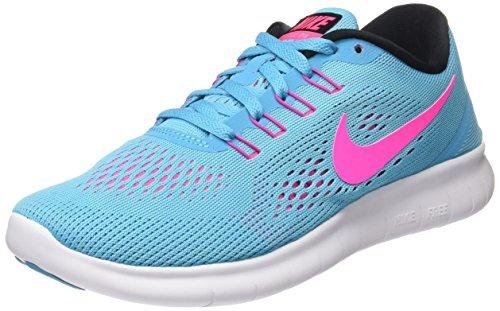 Nike Women's Free RN Running Shoes (5 B(M) US, Blue)