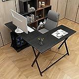 sogesfurniture L-Shaped Desk Corner Table Computer Desk Workstation Desk PC Laptop Office Desk L Desk, Black BHCA-BH-ZJ1-BK