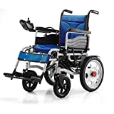 Electric Powered Wheelchair Folding Lightweight 34Kg,Strong And Durable For The Use,Motorized Wheelchairs Convenient For Home And Outdoor Use,Blue