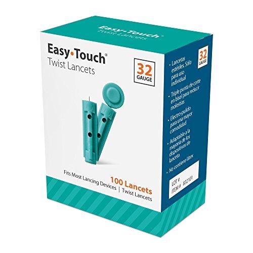 EasyTouch Twist Lancets - 32 G, (100 per box)