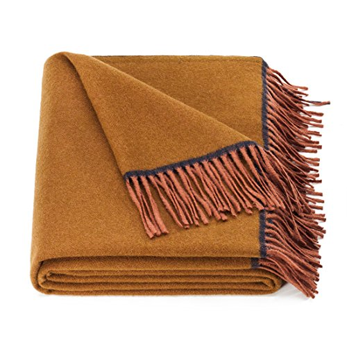 spencer & whitney Wool Blanket Caramel Blanket Australian Wool Throw Twin Blanket Summer Blanket Throws for Couch]()