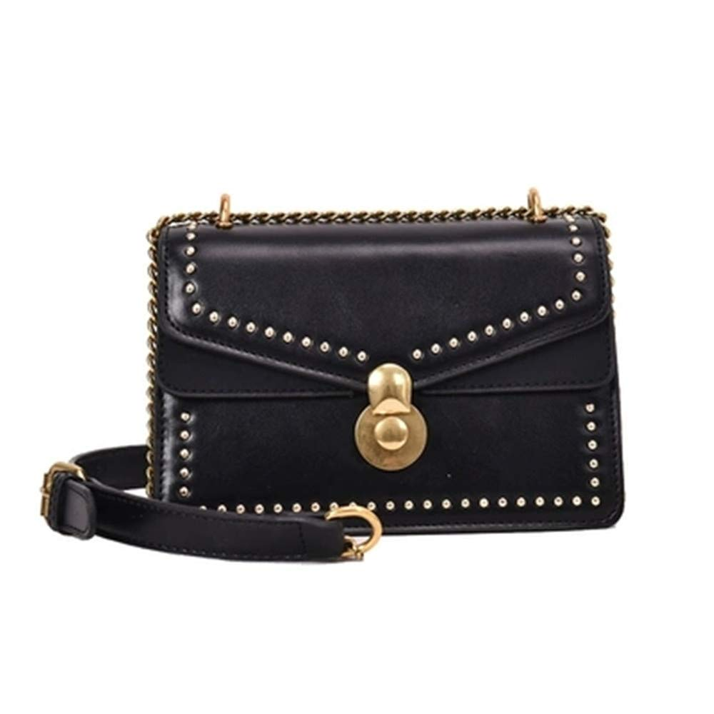ca90246289 Amazon.com  British Purse Fashion Simple Small Square Bag Women s Designer  Handbag 2019 PU leather Rivet Tassel Chain Shoulder Bags  Shoes