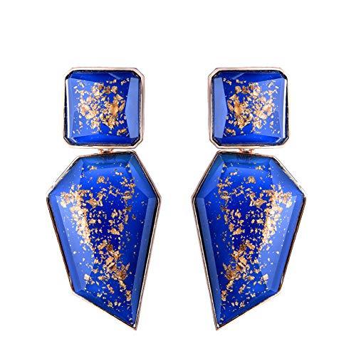 Acrylic Geometric Irregular Shaped Pendant Drop Statement Earrings ()
