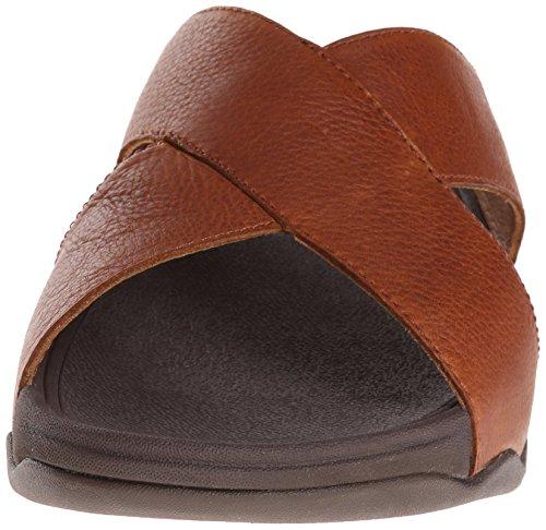 Fitflop Mens Xosa I Läder Glid Sandal Tan