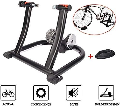 DPPAN Rodillo de Bicicleta, Rodillo De Bicicleta De Interior Bicicleta De Acero con Reducción De Ruido Plegable Entrenamiento De Ejercicio De Ciclismo En Interiores,Black: Amazon.es: Hogar