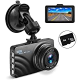 "Car Dashboard Camera, OldShark 1080P HD Dash Cam Recorder 4-Lane Wide Angle View, 3"" Vehicle Camera with G-Sensor, Loop Recording, Motion Detection, Parking Monitor 8GB SD Card Included"