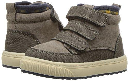 Oshkosh B'Gosh  Boys' Primus Triple Strap High Top Shoes Sneaker, Taupe, 9 M US Toddler