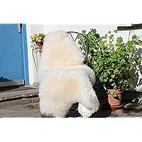 Alpenfell Schaffell Lammfell Merinoschaf groß 130-140cm Weiß ökologische Gerbung