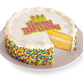 Vanilla Happy Birthday Cake 6 Inches
