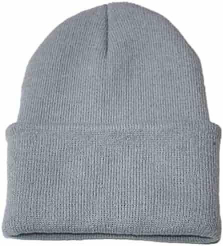 6472a55db37b5 Unisex Solid Slouchy Knitting Beanie Warm Cap Ski Hat