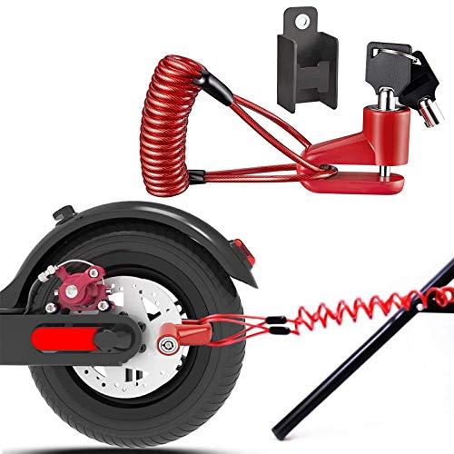 Remschijfslot, elektrische step, veiligheidsvergrendeling, diefstalbeveiliging, staaldraad, blokkering voor motorfiets…