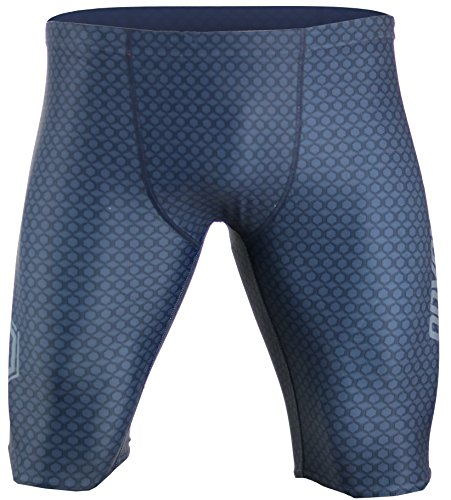 (Onvous Mens V2 Compression Racing Swimsuit & Cross-Training Jammer/Shorts (38) Grey)