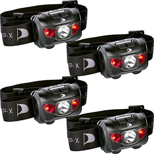 Insane Sale 4-Pack Flagship-X Waterproof CREE LED Camping Headlamp Flashlight For Running