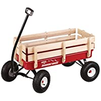 Duncan Mountain Wagon - Pull-Along Wagon for Kids with Wooden Panels, All Terrain Tires, Wide Grip Handle, Wide Wheel Base