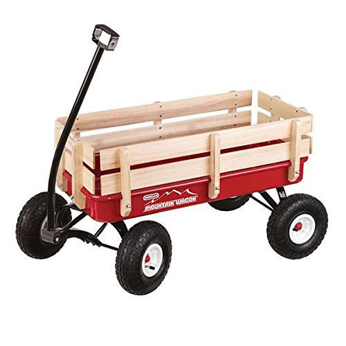 "Duncan Toys Mountain Wagon Outdoor Pull, Red, 41"" x 22"" x 38.5"" Mountain Wagon"