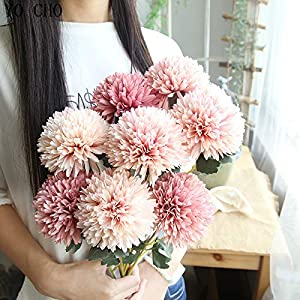 3Pcs Artificial Flowers Real Touch Dandelion Ball Bouquet Flower for Bridal Flower Wedding Home Decor Pompom Fake Flowers 90