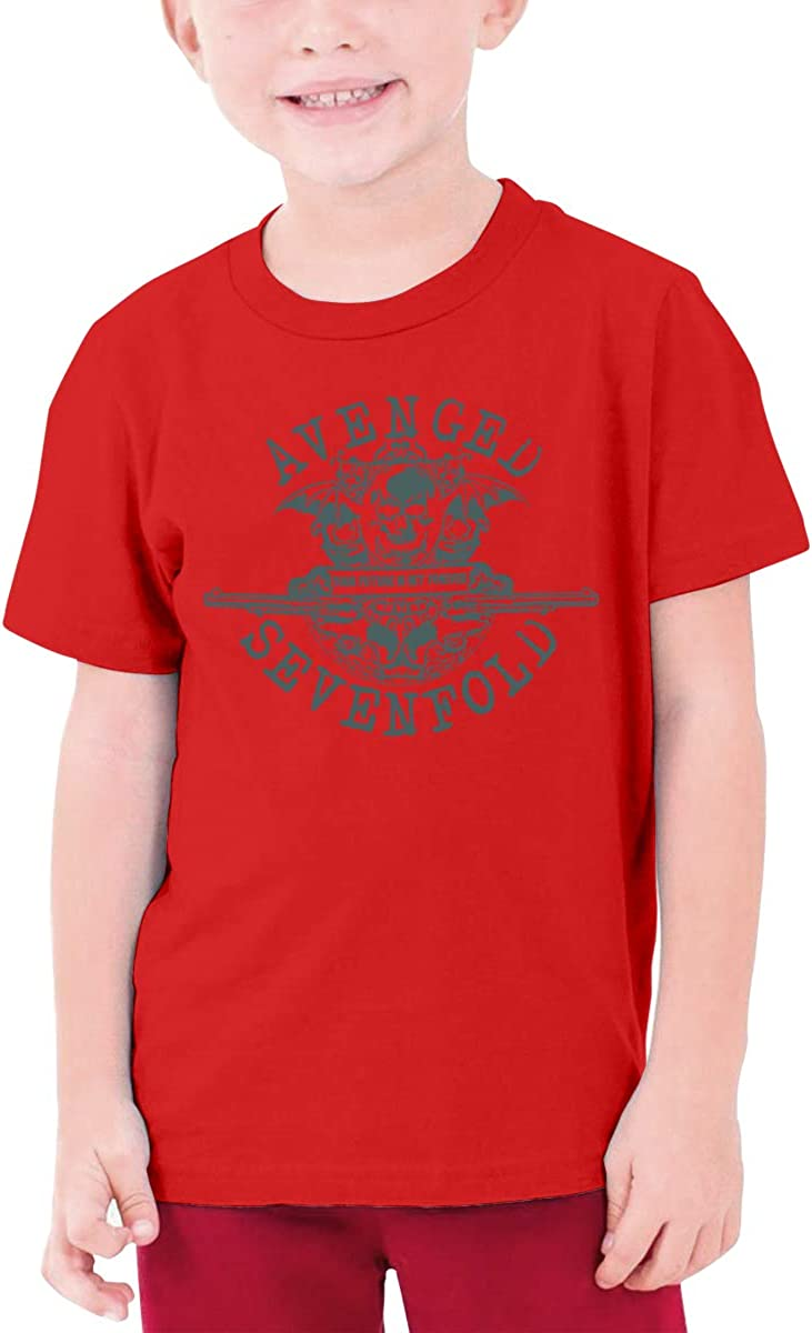 Jaxia Avenged-Sevenfold KidsCotton Youth Crewneck T-Shirt,Boys and Girls,White