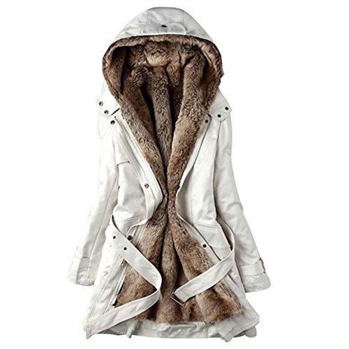 Shanel - Sudadera con capucha - para mujer blanco