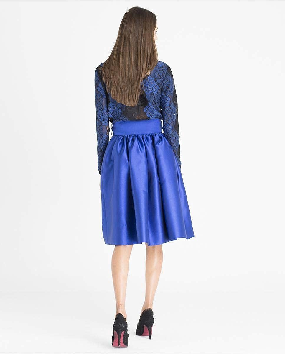 Cuplé Falda de Mujer Plisada Azul Talla: XL: Amazon.es: Ropa y ...